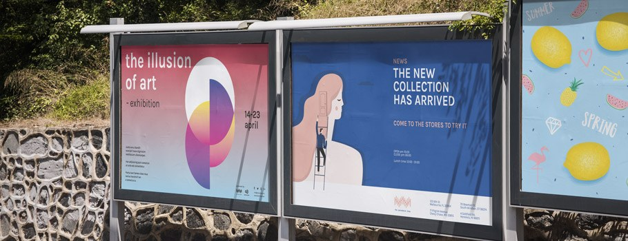 Plakaty i bilbordy