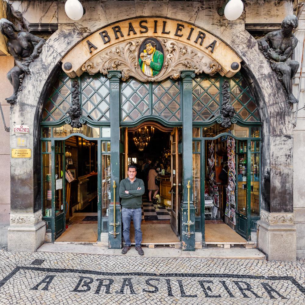 João Silva, um dos proprietários do café mais famoso de Lisboa