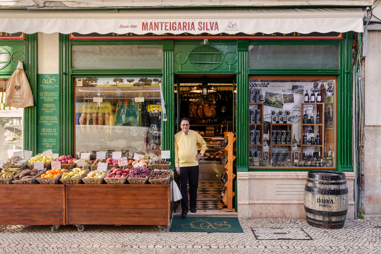 José Branco at his gorgeous food emporium