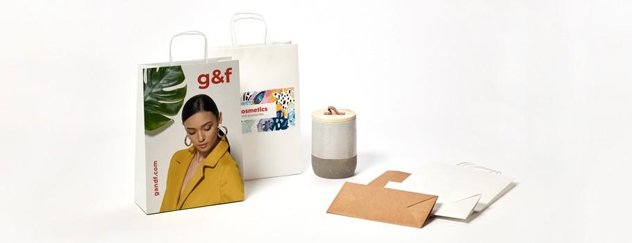 Papiertragetaschen mit Digitaldruck