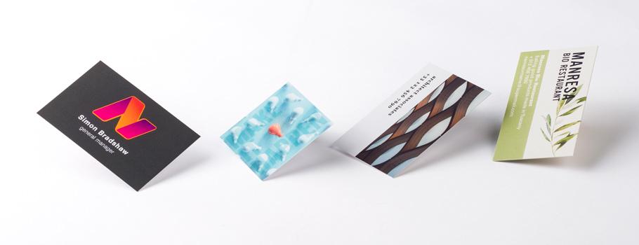 Papieren visitekaartjes