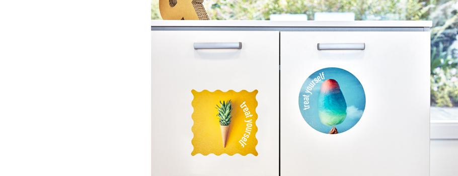 Pvc stickers voor vlakke oppervlakken