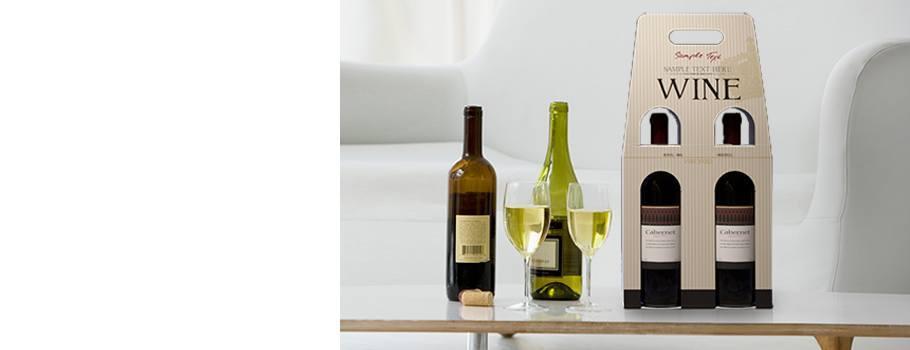 Flaschen-Trageverpackung für 2 Flaschen