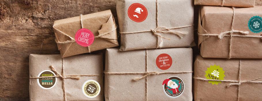 Etiquetas autocolantes para presentes