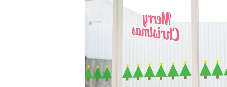 Pvc stickers voor etalages in kerstsfeer