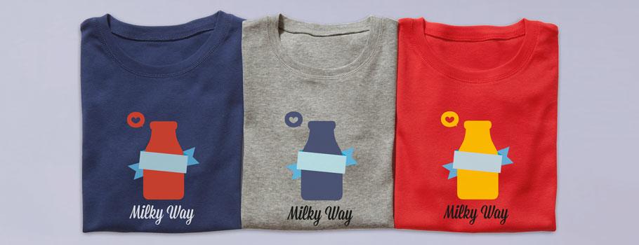 T-shirts med digtala tryck