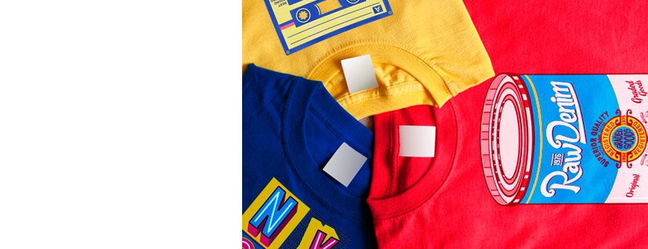 Digitally-printed T-shirts