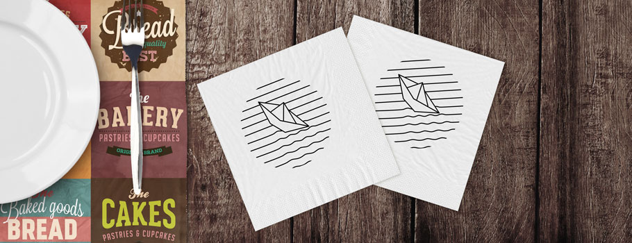 Serviettes de table en papier