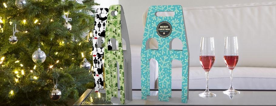 Portabotellas dobles de Navidad
