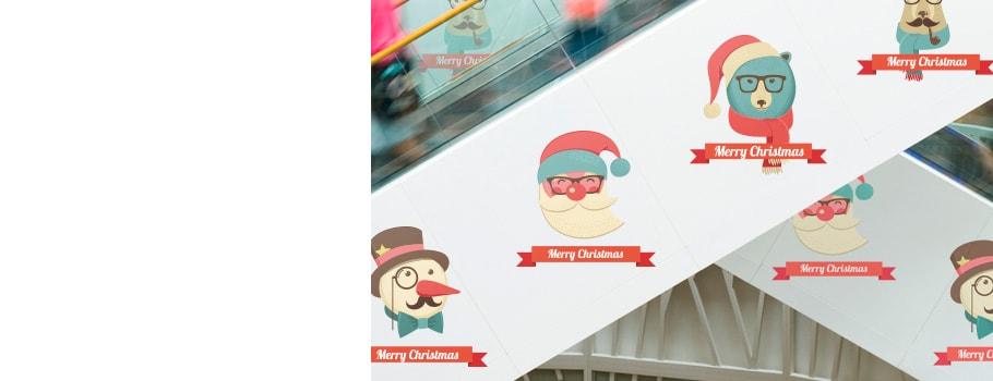 Ozdobne naklejki bożonarodzeniowe