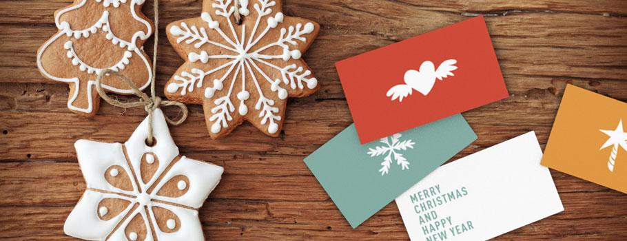 Tarjetas navideñas pequeñas