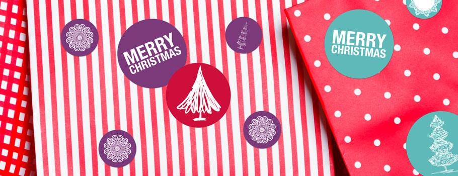 Naklejki bożonarodzeniowe