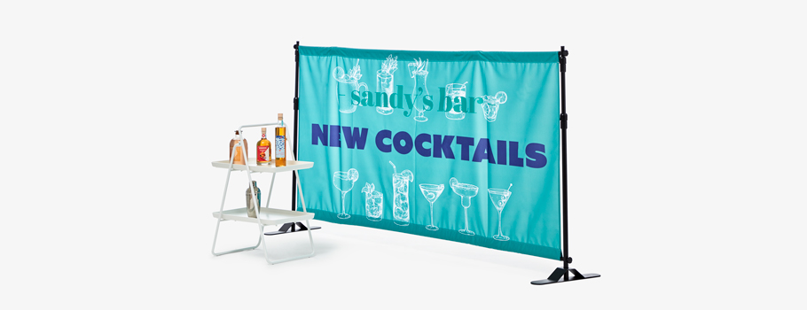 Banner with Adjustable Frame