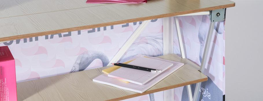 Desk expoziţional din material textil