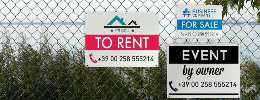 Painéis imobiliários