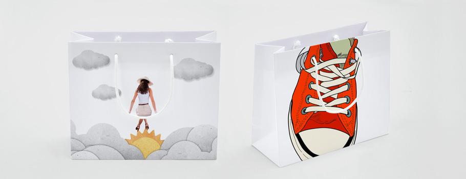 Vollflächig bedruckbare Taschen