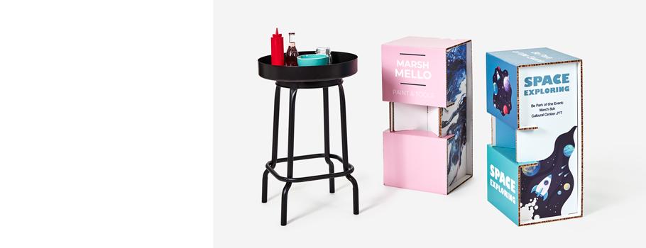 Cardboard bar stool