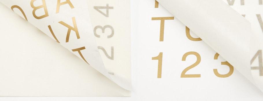 Schriftzugaufkleber