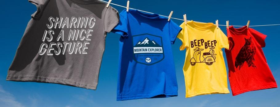 Screen-printed T-shirts