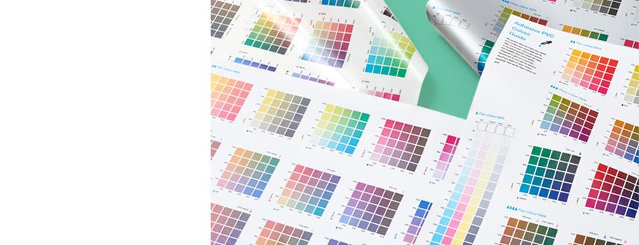 Шкала цветового охвата для ПВХ-наклеек