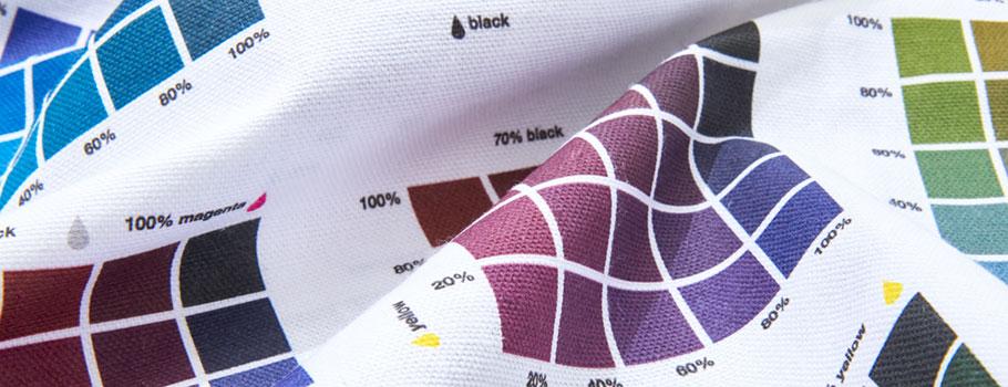 Farbatlas für den Textildruck
