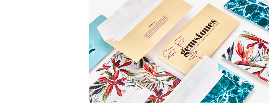 Vollflächig bedruckbare Briefumschläge