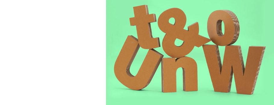 Kartonnen letters