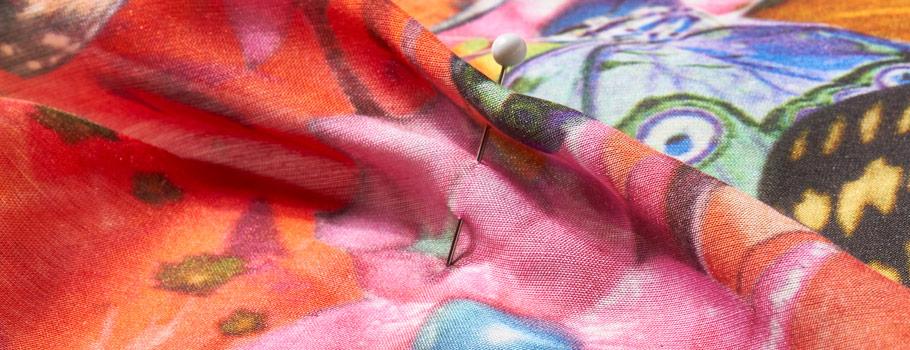 Tecidos naturais com acabamento