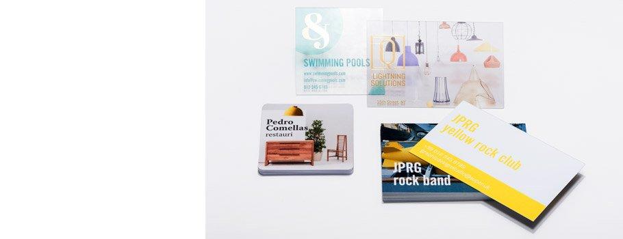 Tarjetas de visita de PVC