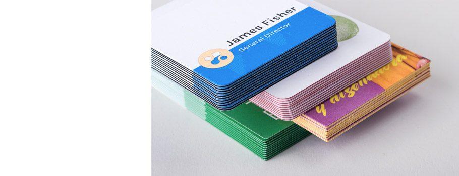 Visitkort med dubbla lager