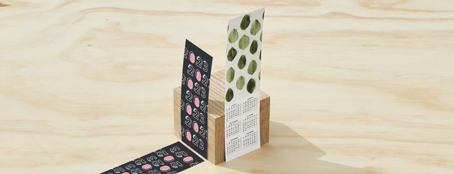 Bokmarke med kalender
