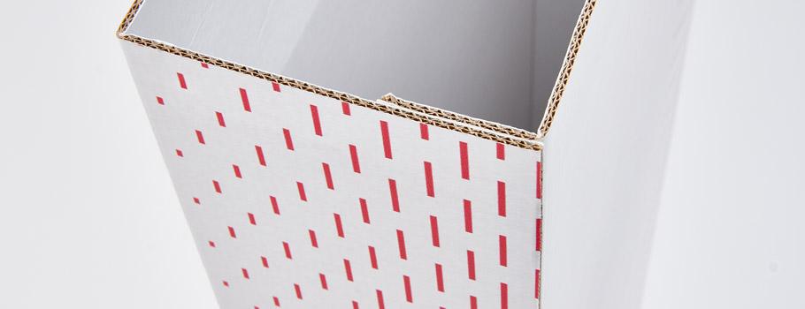 Habillage de portique antivol en carton