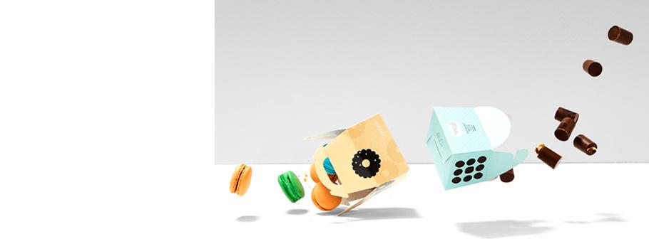 Cajas alimentarias bomboneras
