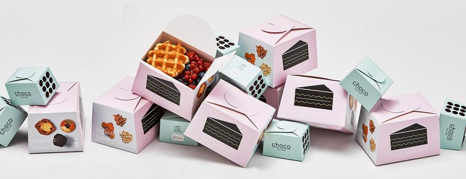 Самосборные коробки для еды на вынос