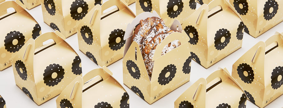 Present- och reklamförpackningar deluxe för livsmedel