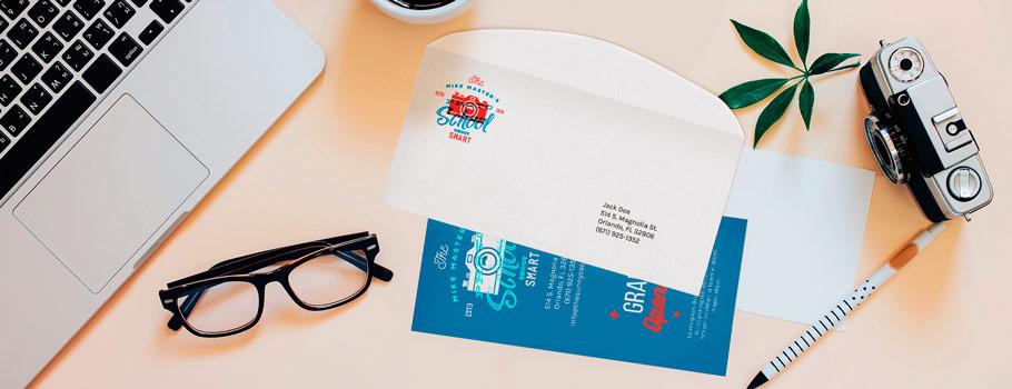 Print and envelope enclosing