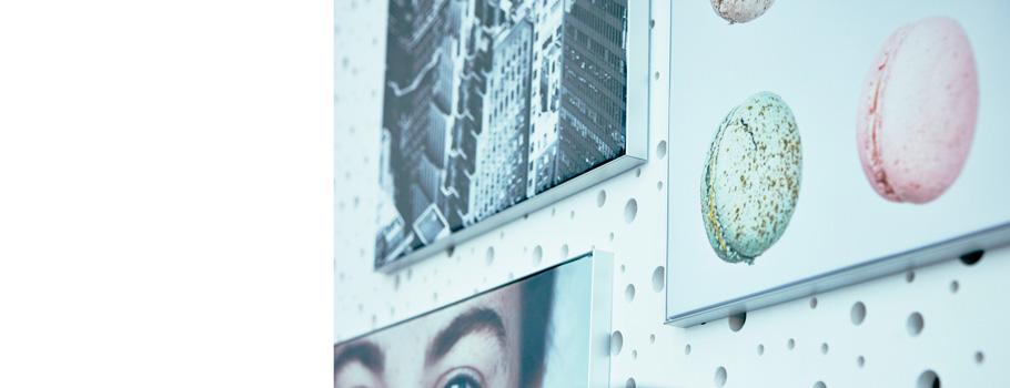 Väggram i aluminium