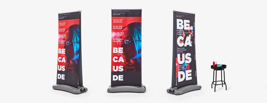 Roll-up outdoor de doble cara
