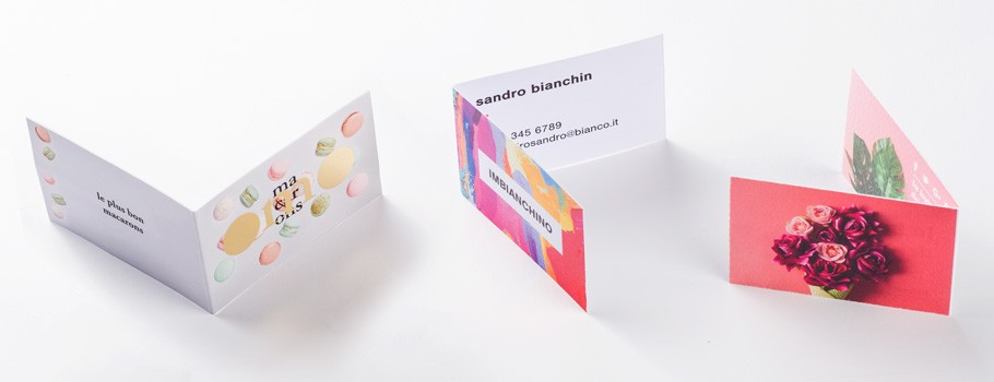 Folded Business Cards