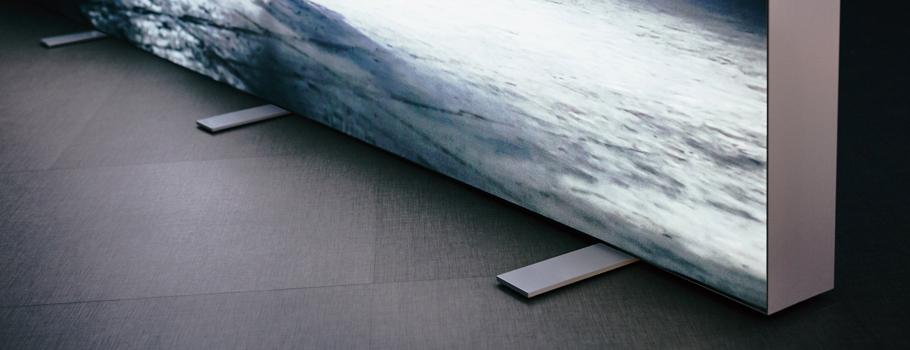 Moldura de chão retroiluminada