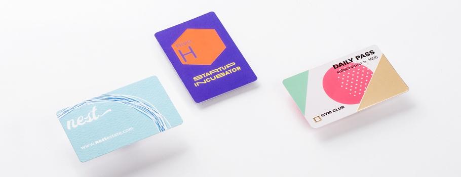 Visitenkarten mit abgerundeten Ecken