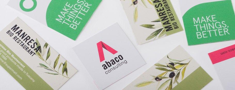 Cartões de visita ecológicos