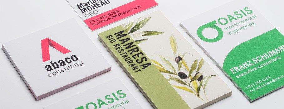 Umweltfreundliche Visitenkarten