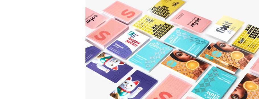 cartões de visita com acabamentos especiais