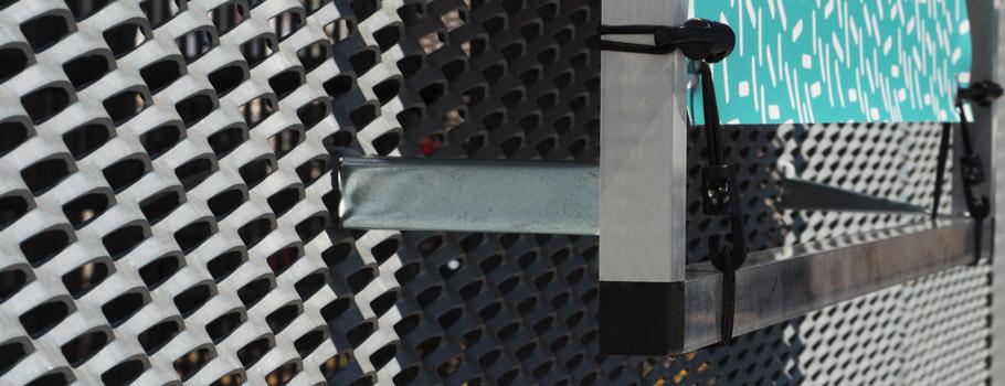 Expobanner zur Wandmontage