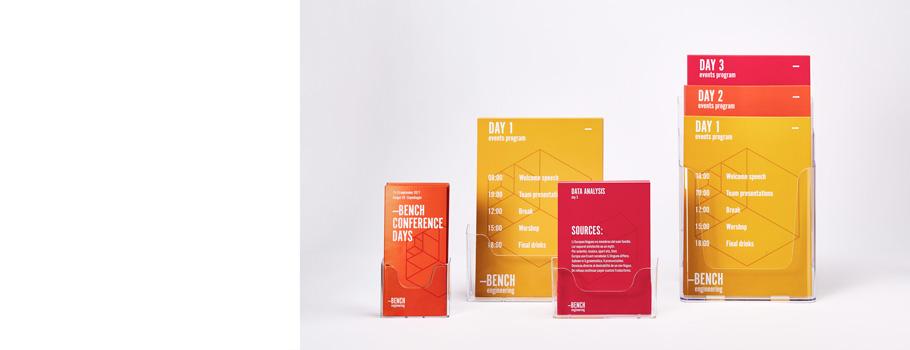Expositor porta flyers