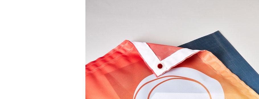 Windbestendige banners