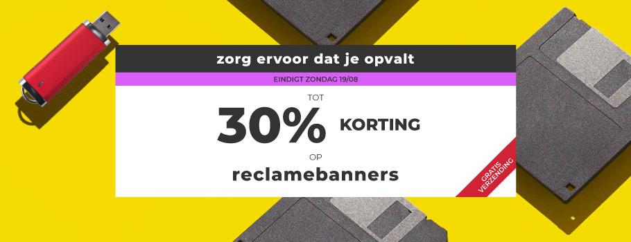 Banners van stof
