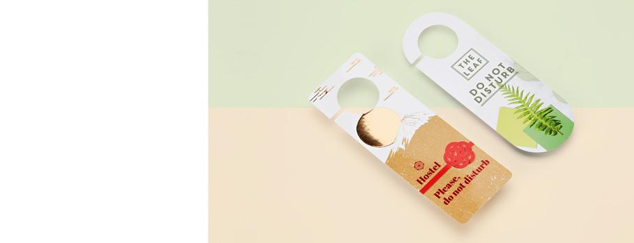 Etiquetas colgantes para puertas
