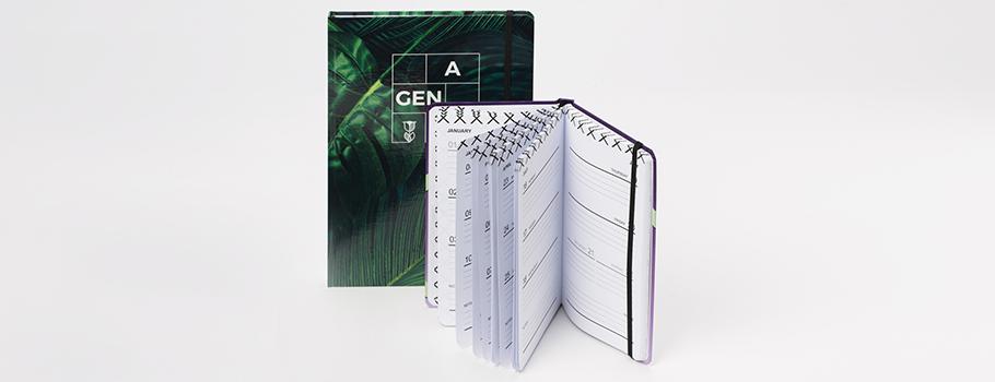 Terminkalender mit Hardcover